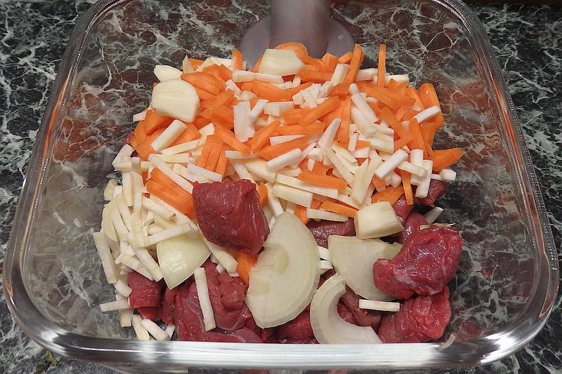 Připravené se zeleninou a kořením